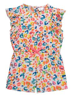 ladybird-girls-neon-animal-print-playsuit