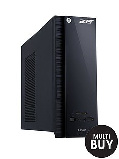 acer-axc-704-intelreg-pentiumreg-processor-8gb-ram-1tb-hard-drive-desktop-base-unit-with-optional-1-years-microsoft-office-365-personal-black