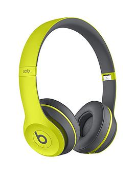 Beats By Dr Dre Solo 2 Wireless Headphones Active Collection  Shock Yellow