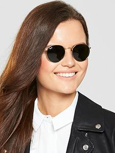 ray-ban-round-sunglasses-gold