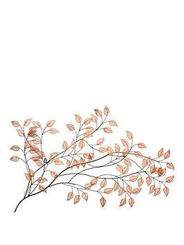 copper-leaves-metal-wall-art