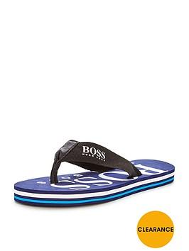 hugo-boss-boys-logo-flip-flops
