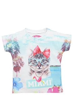 ladybird-girls-photographic-miami-kitten-t-shirt