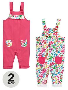 ladybird-baby-girls-floral-dungarees-2-pack