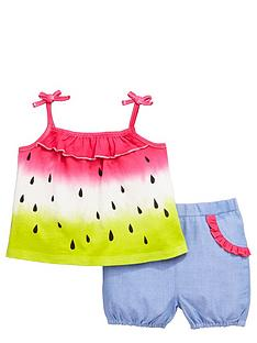 ladybird-baby-girls-ombrenbspwatermelon-jersey-top-and-chambray-shorts-set-2-piece