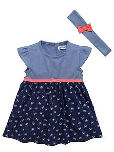 ladybird-baby-girls-jersey-and-chambray-dress-with-headband-set-2-piece