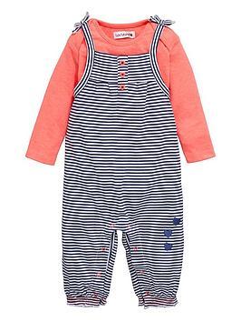 ladybird-baby-girls-stripe-dungaree-and-t-shirt-set-2-piece