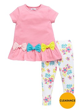 ladybird-girls-3d-jersey-bow-top-and-floral-leggings-set-2-piece