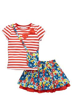 ladybird-girls-stripe-t-shirt-floral-skirt-and-bag-set-3-piece