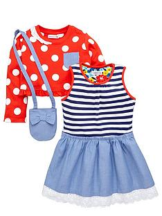 ladybird-girls-dress-spotty-top-and-bag-set-3-piece