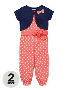 ladybird-girls-jersey-spot-jumpsuit-and-bolero-set-2-piece