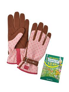 thompson-morgan-ladies-parisienne-garden-gloves-size-sm-with-gardening-tips-book