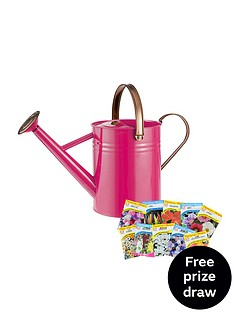 thompson-morgan-vintage-45l-watering-can-in-bright-pink