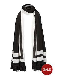 mono-border-amp-tassel-scarf