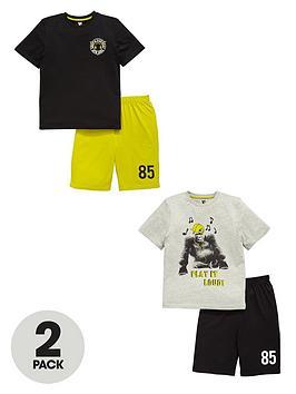 v-by-very-monkey-shorty-pyjamas-2-pack