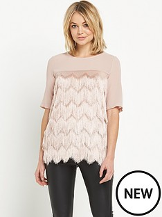 river-island-fringed-top