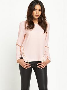 river-island-long-sleeved-zip-blouse