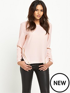 river-island-long-sleeved-zip-blouse