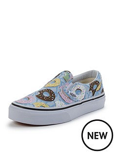 vans-vans-039classic-slip-on-donut-print-junior