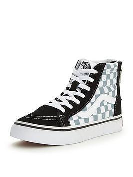 Vans Vans &039Sk8Hi Zip 50Th Anniversary Checkerboard Junior