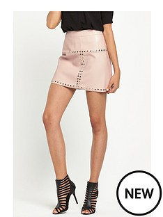 river-island-river-island-studded-pu-mini-skirt