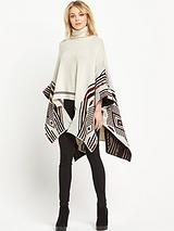 Aztec High Neck Cape