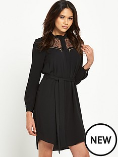 river-island-lace-shirt-dress