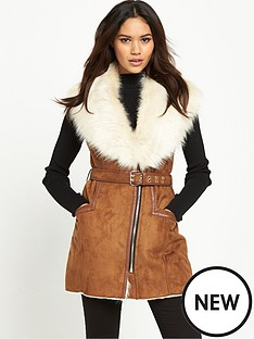 river-island-faux-fur-collar-sleeveless-jacket