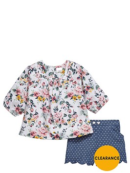 ladybird-girls-floral-blouse-and-spotty-shorts-set-2-piece