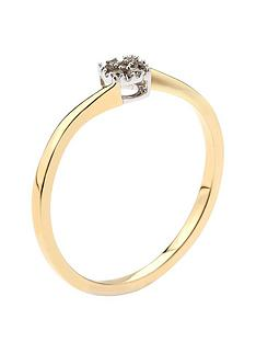 love-diamond-9ct-yellow-gold-4-point-cluster-twist-ring