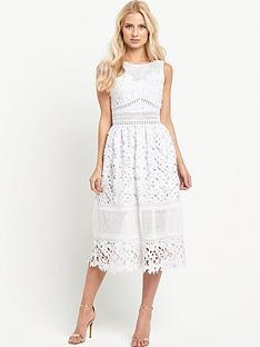 miss-selfridge-white-lace-midi-dress