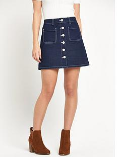 miss-selfridge-miss-selfridge-patch-pocket-skirt-with-ecru-contrast-stitch-detail