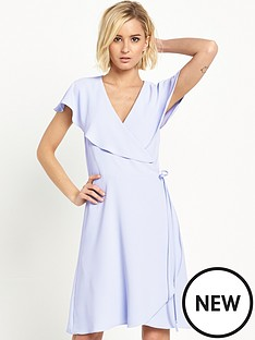 miss-selfridge-frill-wrap-midi-dressnbsp
