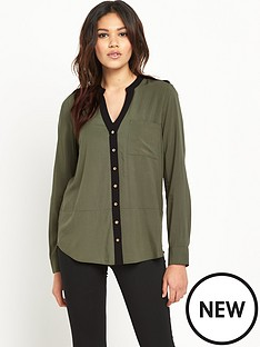 oasis-oasis-colourblock-dip-back-shirt