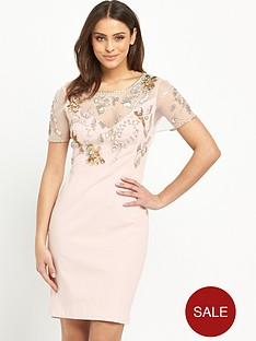 french-connection-horizon-light-short-sleeve-embellished-dress