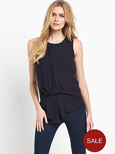 french-connection-florrienbspdrape-sleeveless-round-neck-top