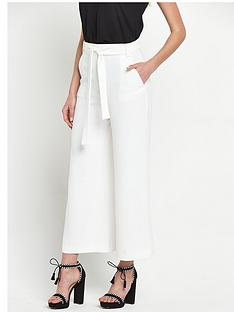 french-connection-arrow-crepe-tie-cropped-flared-trousers