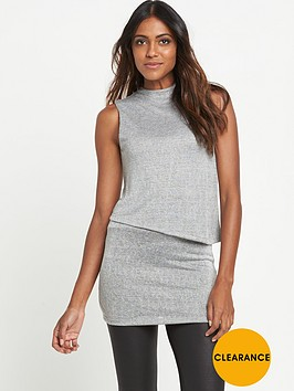 v-by-very-textured-funnel-neck-tunic