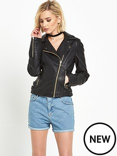 miss-selfridge-faux-leather-biker-jacketnbsp