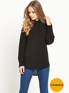 french-connection-polly-plains-long-sleeved-pocket-blouse