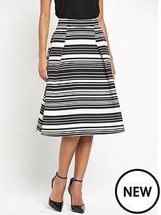 miss-selfridge-midi-stripe-skirt