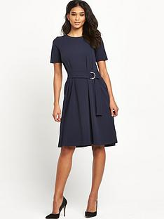 warehouse-d-ring-compact-crepe-dress