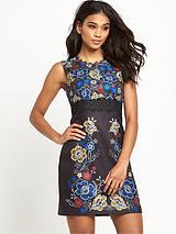 60's Nouveau Print Dress