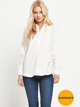 warehouse-lace-insert-shirt