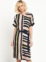 Stripe Belted Sack Dress