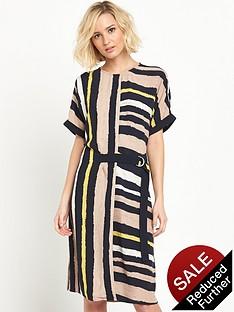 warehouse-stripe-belted-sack-dress