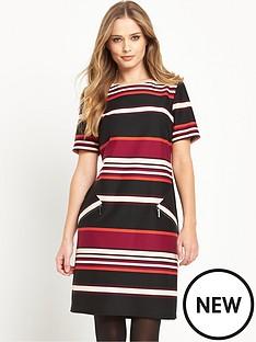 wallis-wallis-stripe-jersey-dress