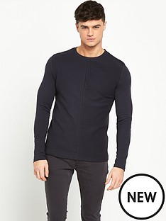 river-island-textured-block-long-sleeve-mens-t-shirt