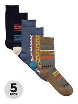 NAVY FAIRISLE SOCKS