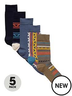 river-island-navy-fairisle-socks